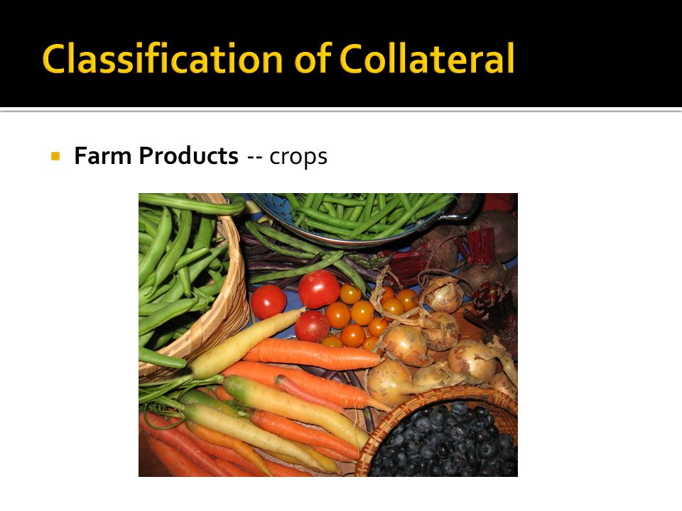  Farm Products -- crops