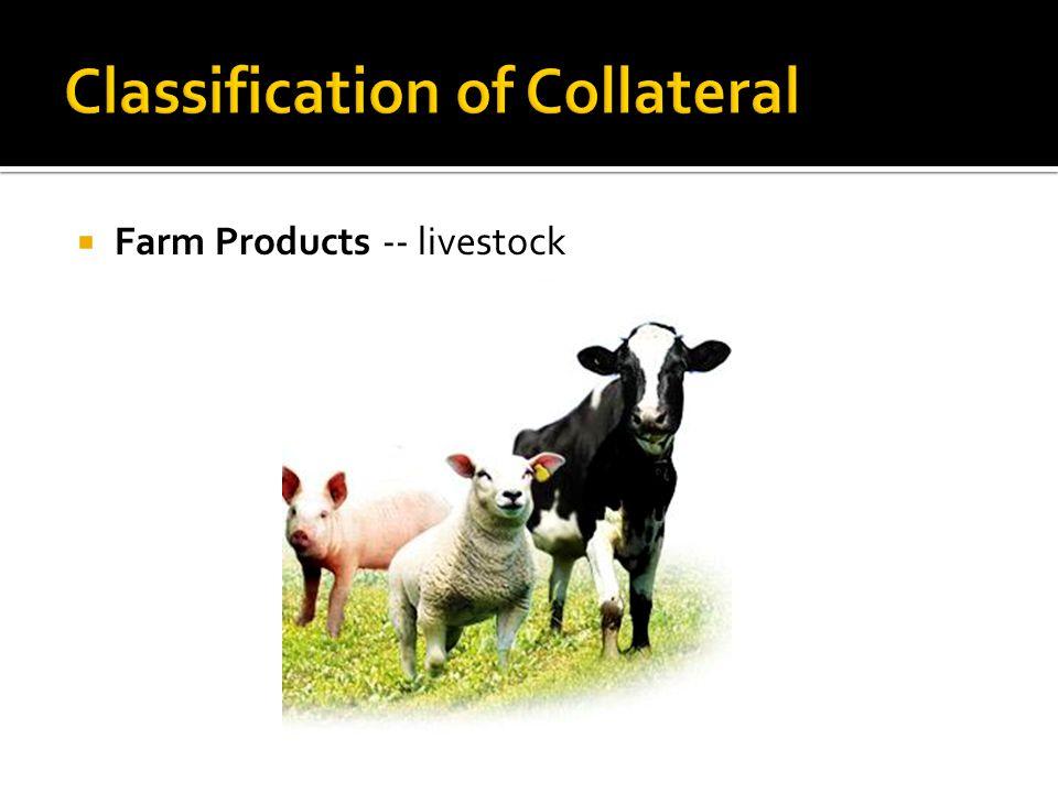  Farm Products -- livestock