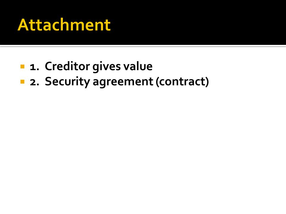  2.Security agreement (contract)