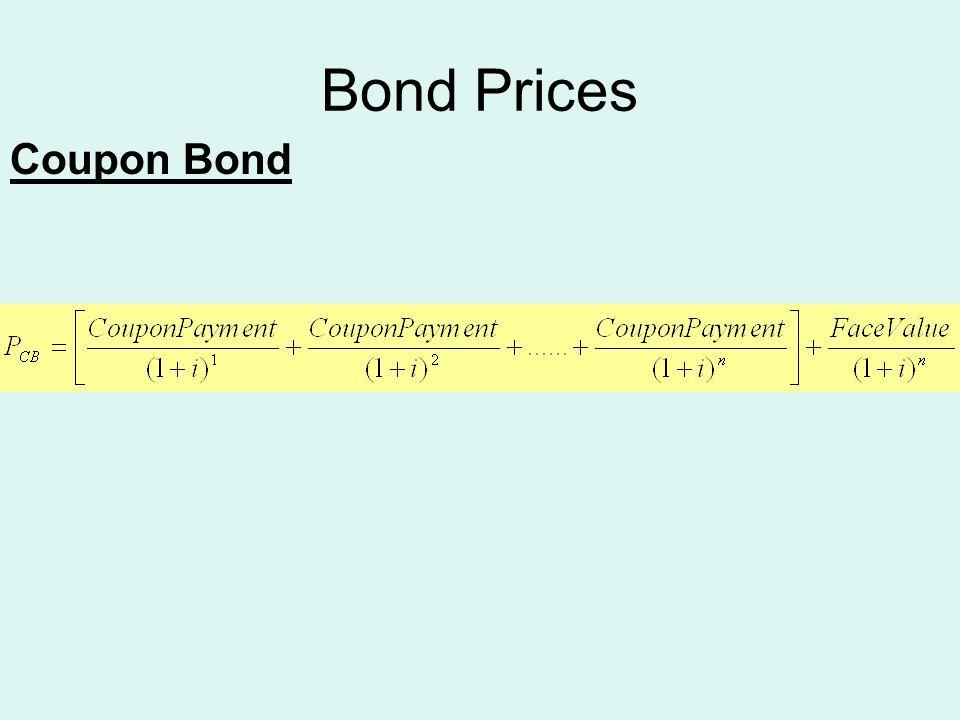 Bond Prices Coupon Bond