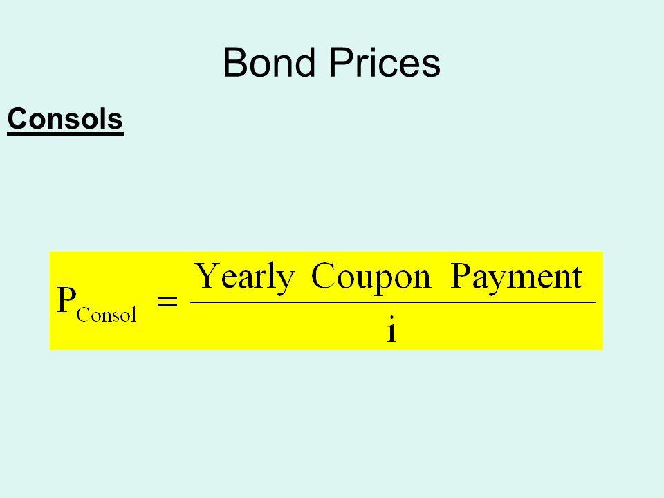 Bond Prices Consols