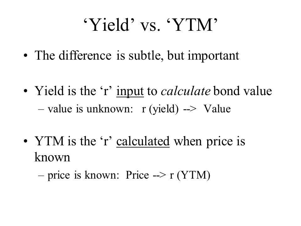 'Yield' vs.