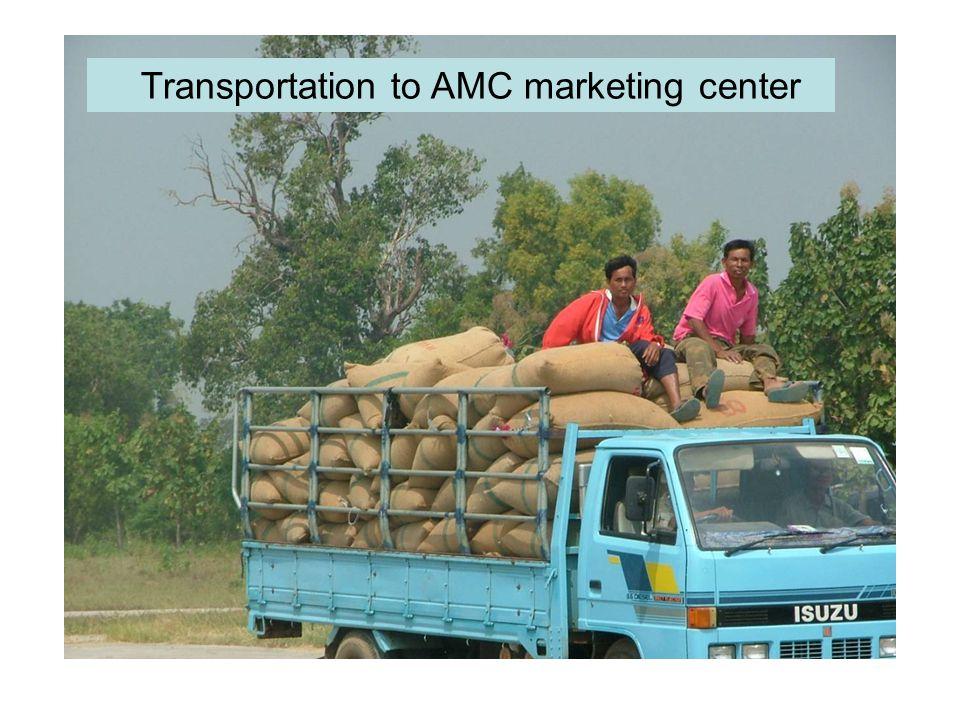 Transportation to AMC marketing center