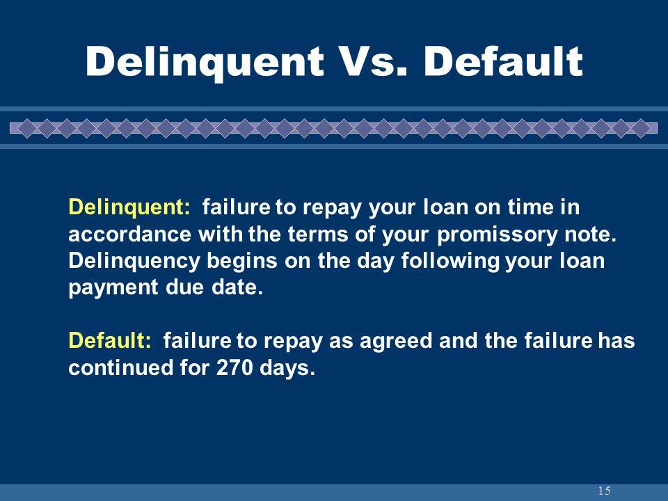 15 Delinquent Vs.