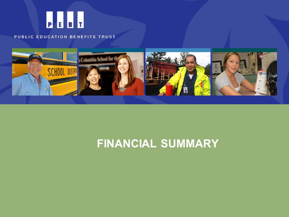  2010 annual report as well as previous reports are available on the PEBT website  Includes audited financial statements Annual Reports