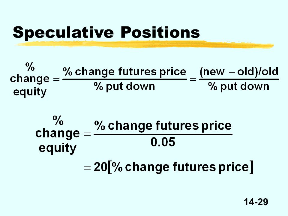 14-29 Speculative Positions