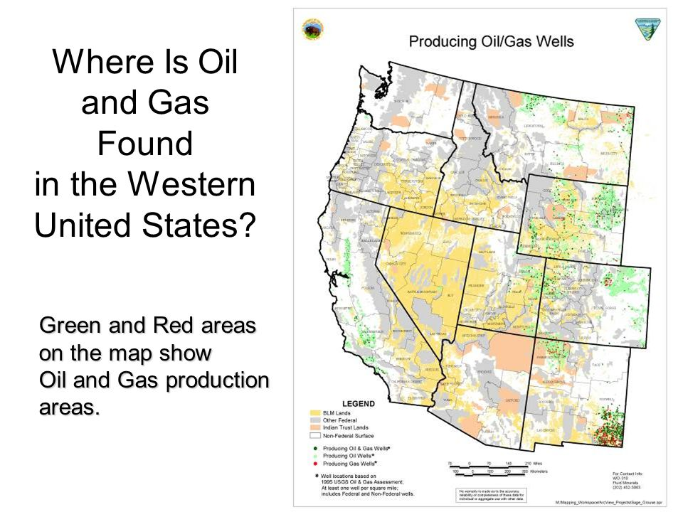 Where Is Oil and Gas Found in the Western United States.