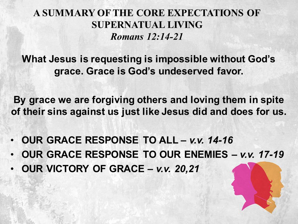 I. OUR GRACE RESPONSE TO ALL PEOPLE Romans 12:14-16