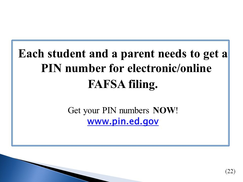 Web: www.fafsa.ed.gov www.studentaid.ed.gov/completefafsa www.fafsa.ed.gov www.studentaid.ed.gov/completefafsa Phone: 800.433.3243 (800.4FED.AID) TTY 800.730.8913 (hearing impaired) Live Chat: Click Live Help @ www.fafsa.ed.govwww.fafsa.ed.gov In Person: California Cash for College Workshops www.californiacashforcollege.orgwww.californiacashforcollege.org or 888.224.7268 (24)