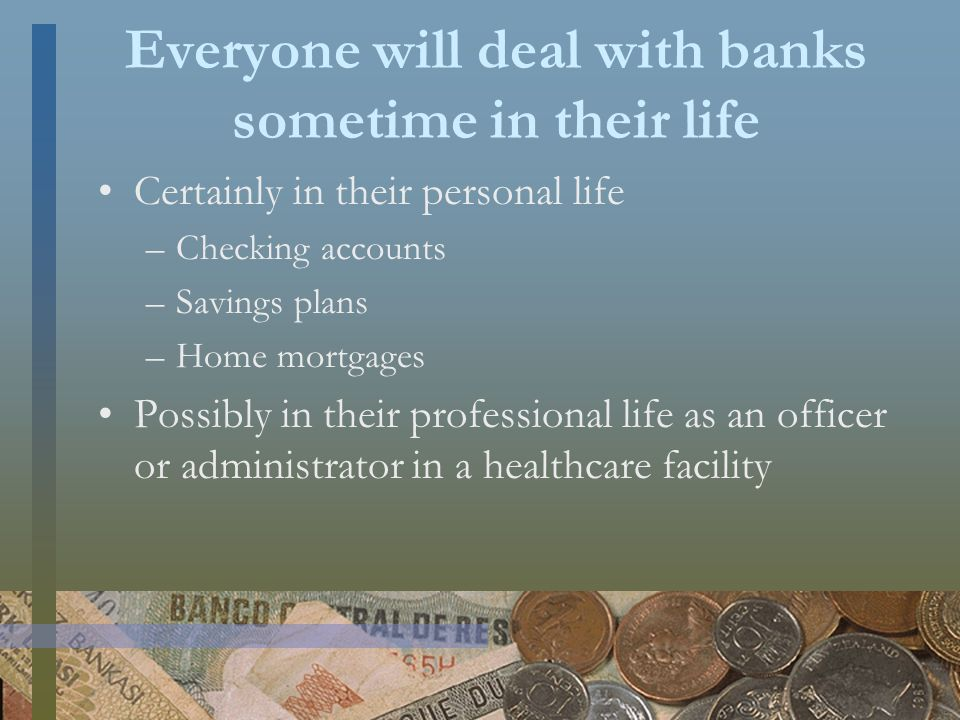 Business Loans The goods and services provided to patients on credit cost the hospital money.