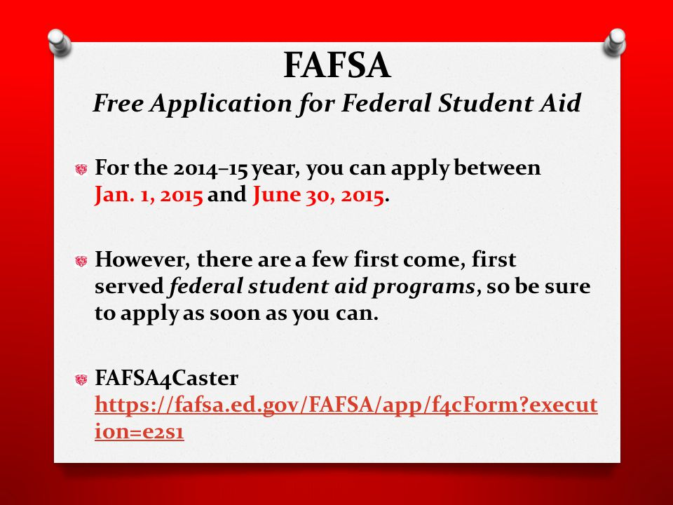 For the 2014–15 year, you can apply between Jan.1, 2015 and June 30, 2015.