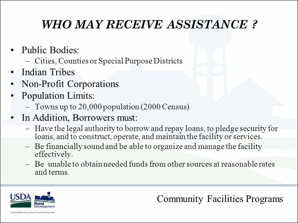 WHO MAY RECEIVE ASSISTANCE .