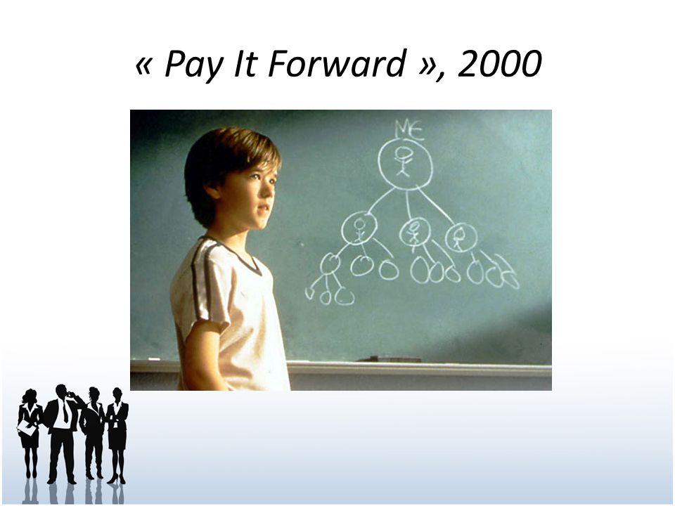 « Pay It Forward », 2000