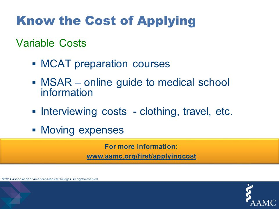 ©2014 Association of American Medical Colleges. All rights reserved.