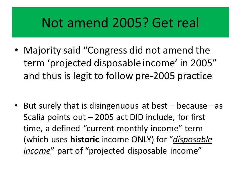 Not amend 2005.