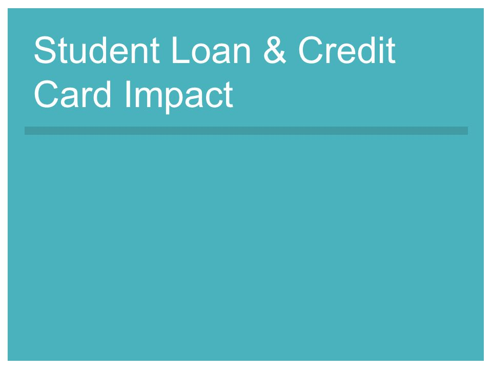 Student Loan & Credit Card Impact