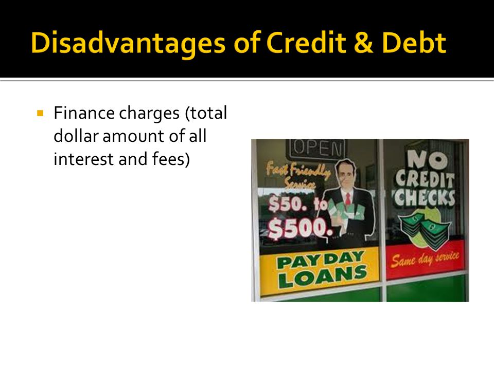  Finance charges (total dollar amount of all interest and fees)