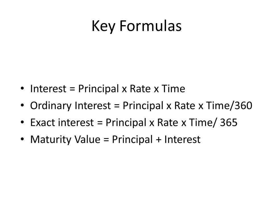 Key Formulas