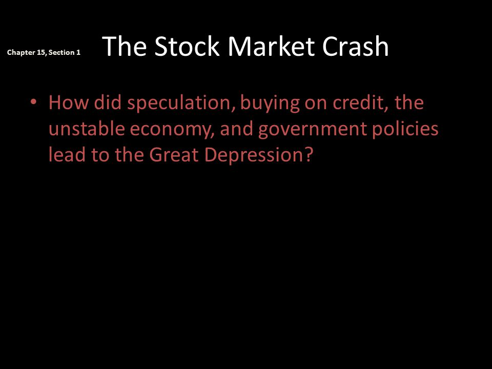 The Stock Market Crash—Assessment ________ was part of the nation's business cycle.