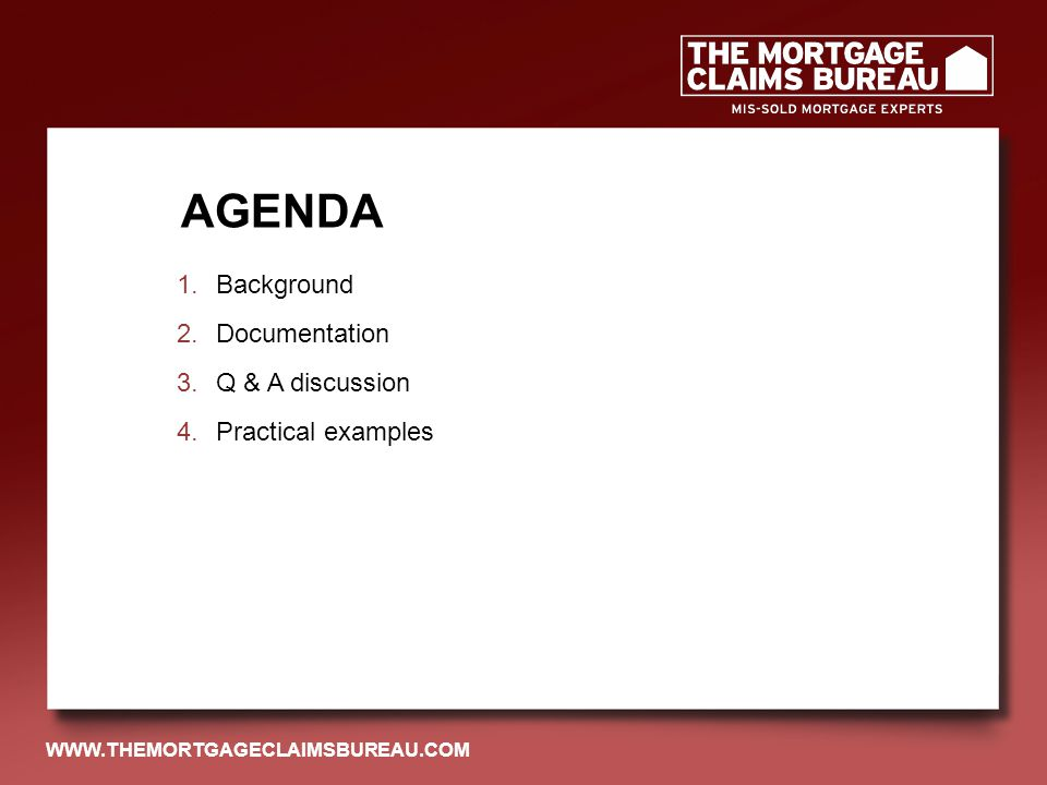 DID YOU TAKE OUT A MORTGAGE FROM ANY OF THESE LENDERS BEFORE OCTOBER 2004.