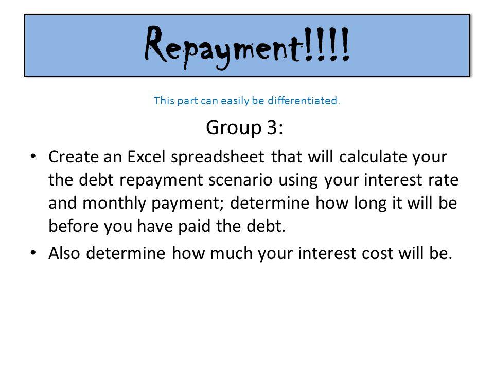 Repayment!!!.