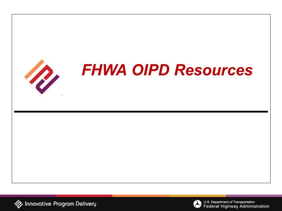 FHWA OIPD Resources