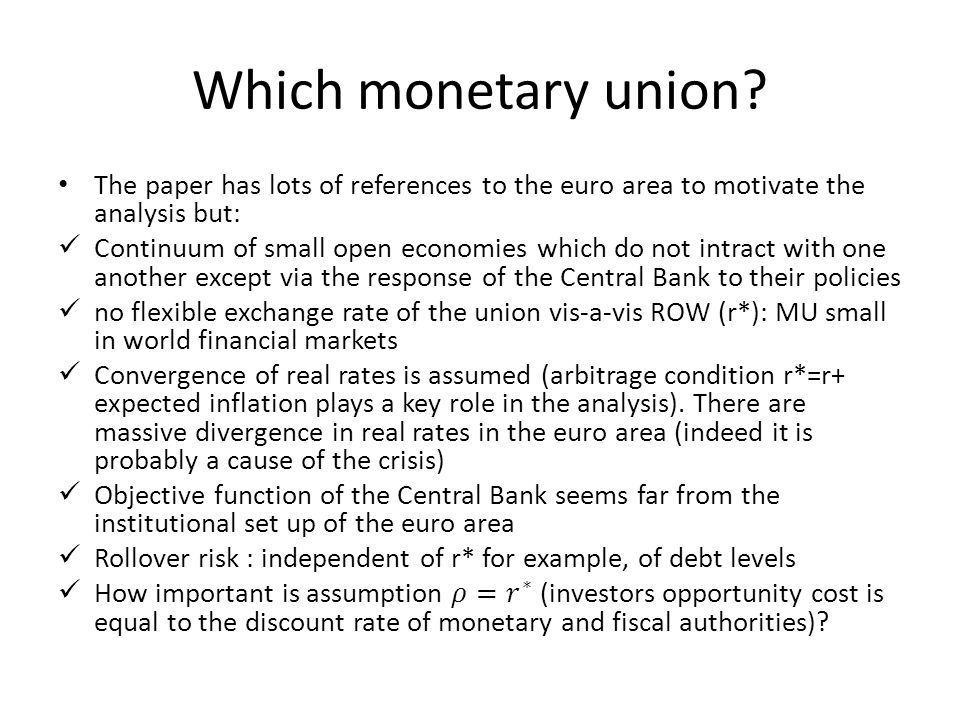 Which monetary union?