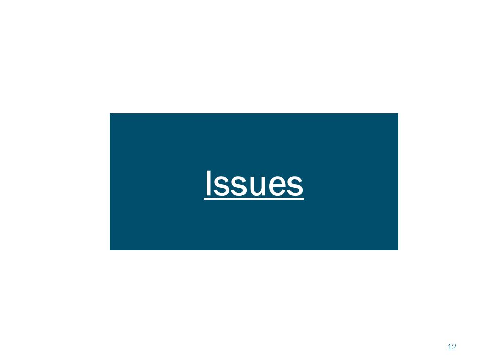 12 Issues