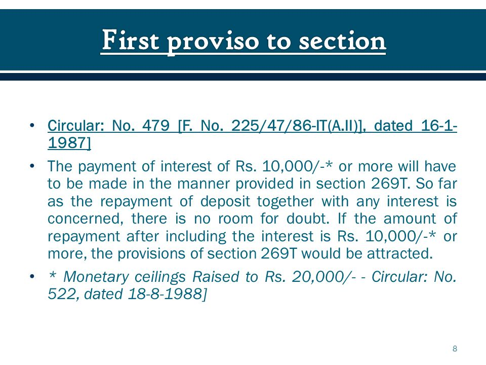 The payment of interest of Rs.