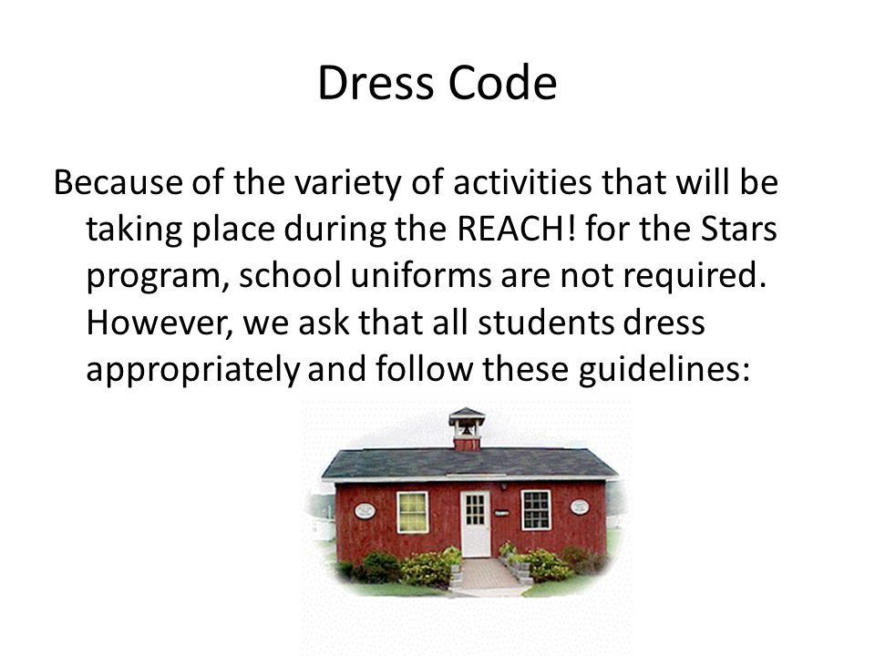 Because of the variety of activities that will be taking place during the REACH.