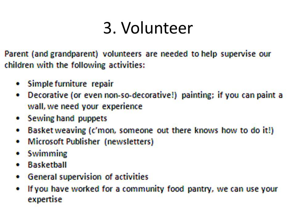 3. Volunteer