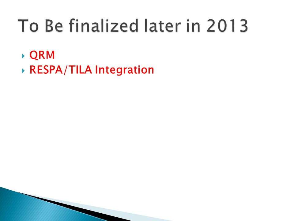  QRM  RESPA/TILA Integration