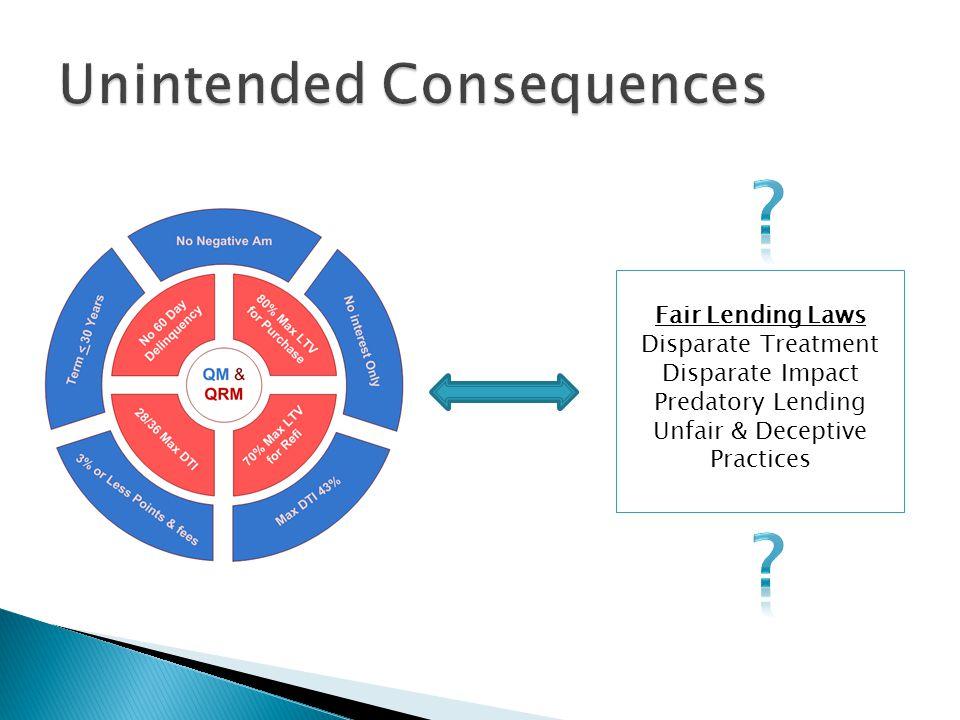 Fair Lending Laws Disparate Treatment Disparate Impact Predatory Lending Unfair & Deceptive Practices