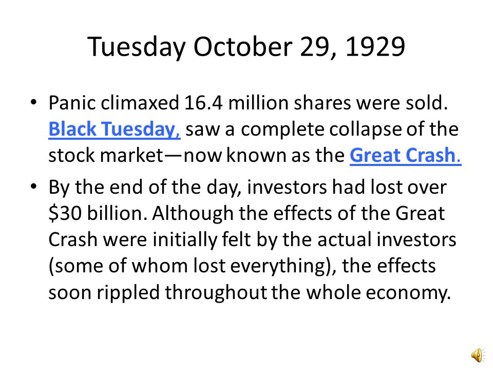 The Stock Market Crash By 1929, the rising U.S. stock market dominated the news in America. By September 3, the Dow Jones Industrial Average, an avera