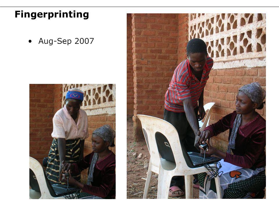 Fingerprinting Aug-Sep 2007 13