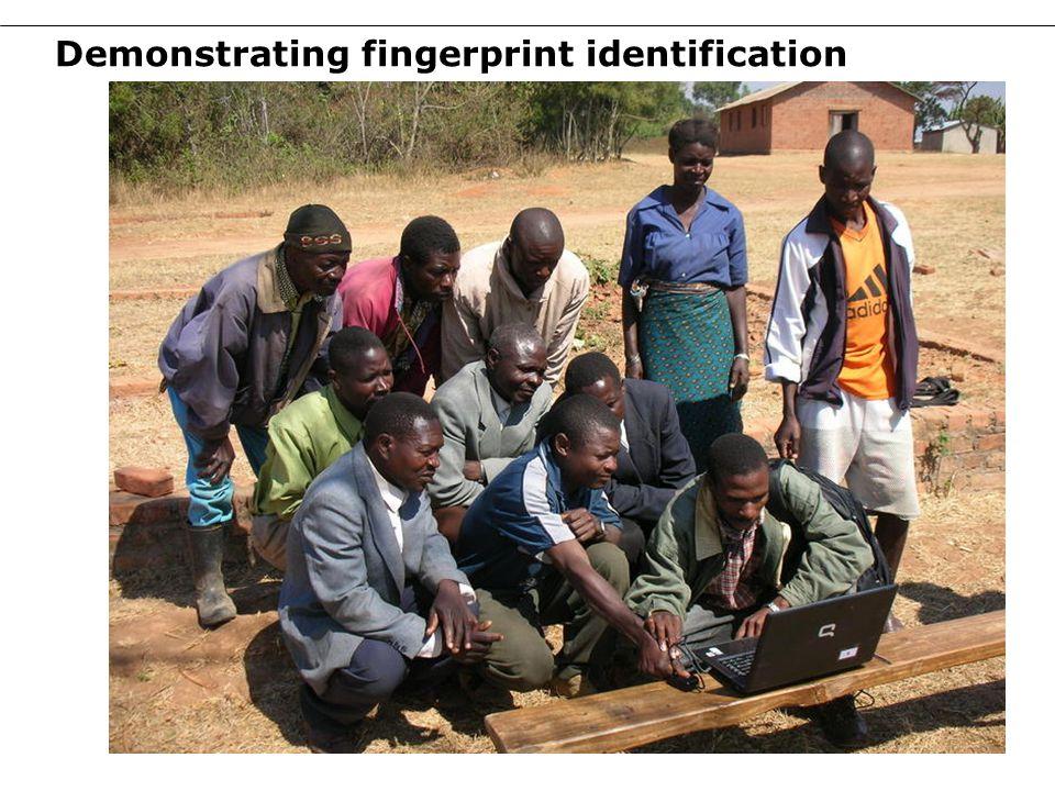 Demonstrating fingerprint identification 14