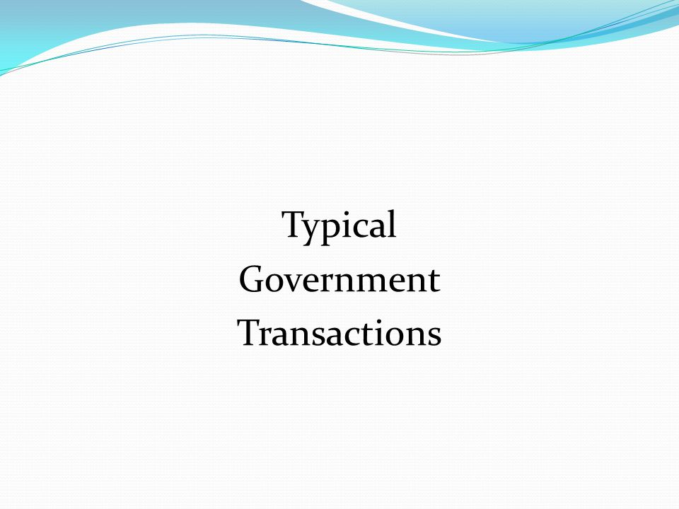 Typical Government Transactions