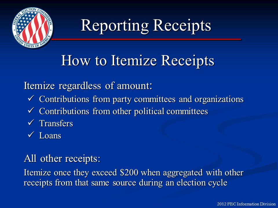 2012 FEC Information Division Reattributions & Redesignations Scenario #1