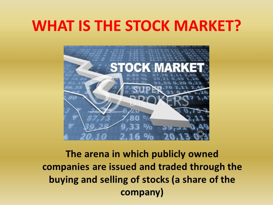 WHAT IS THE STOCK MARKET.