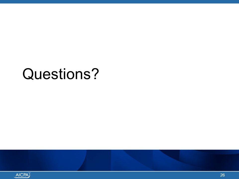 Questions? 26