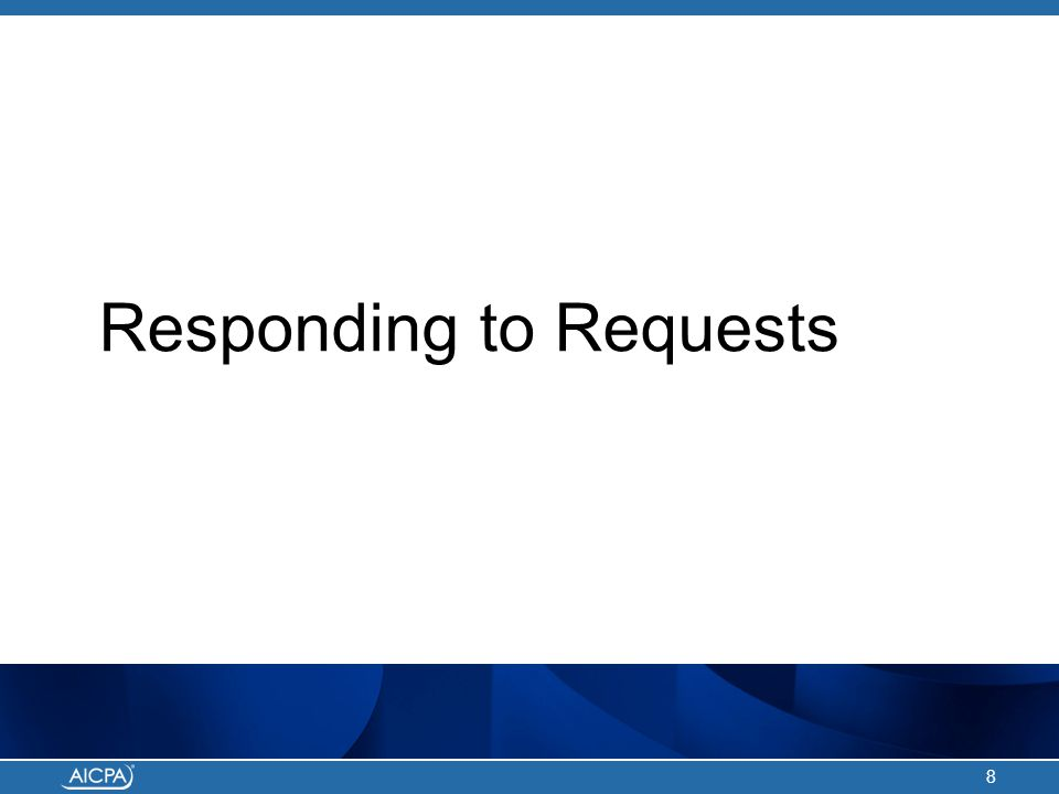 Responding to Requests 8