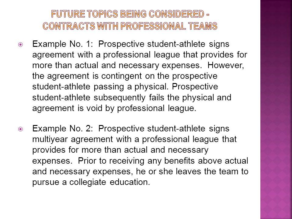 Topic: Student-Athlete Employment.