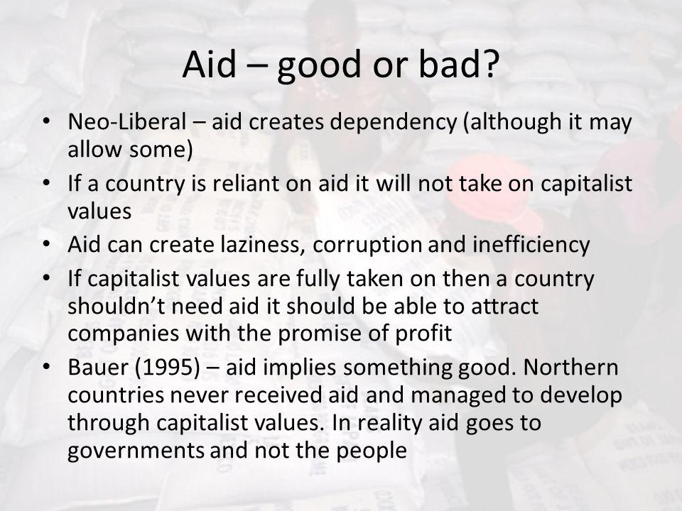 Aid – good or bad.