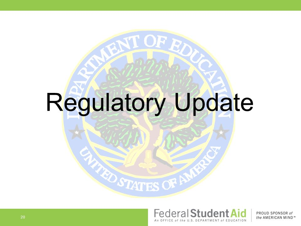 Regulatory Update 20