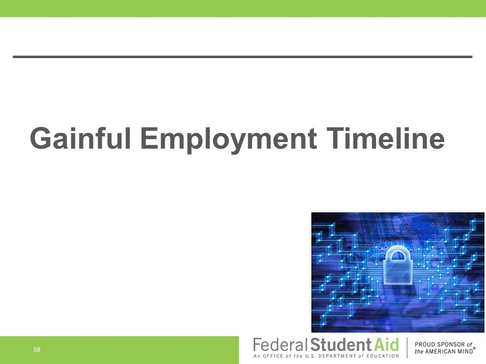 Gainful Employment Timeline 58