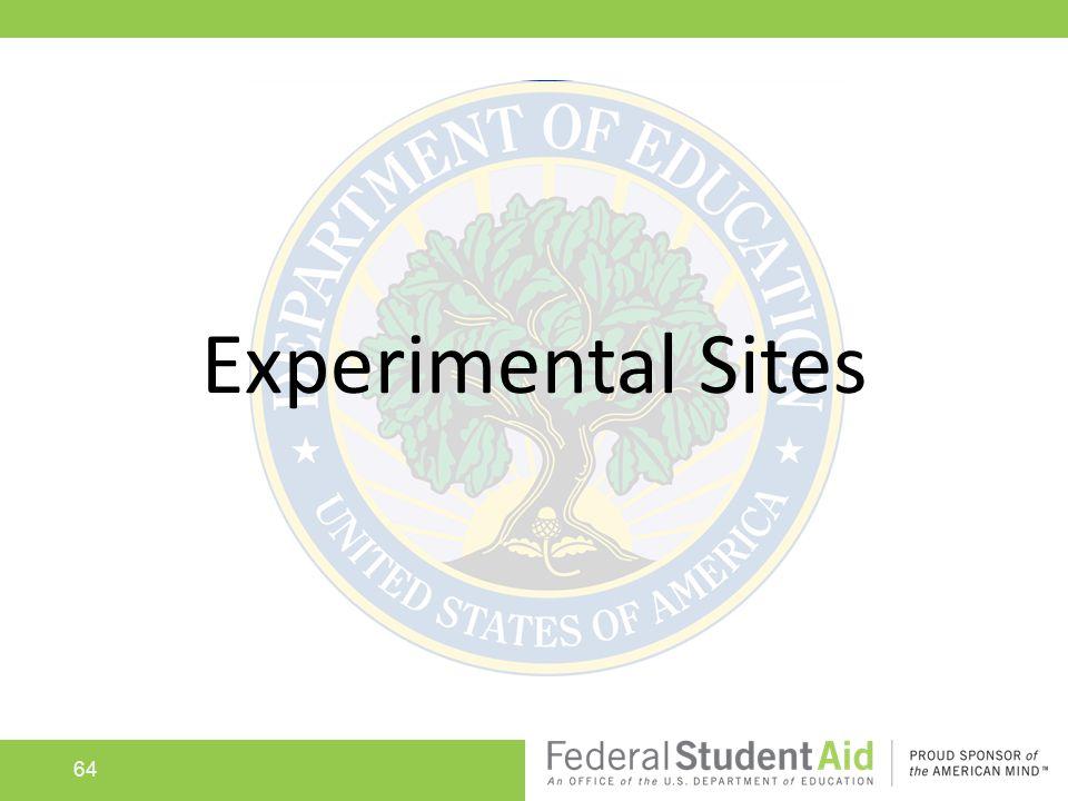 64 Experimental Sites