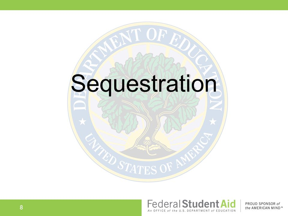 8 Sequestration