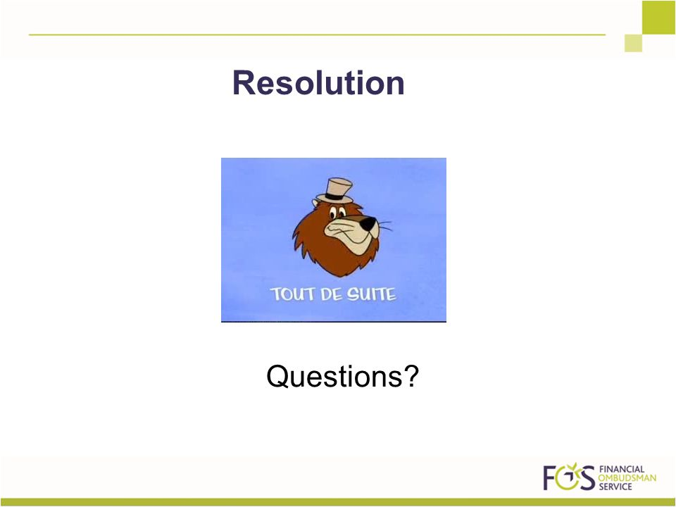 Questions Resolution