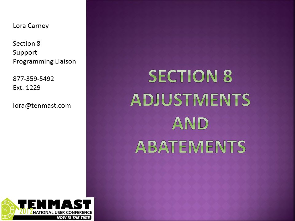 Adjustments in the Adjustment Next Check Box Are Always payable to the Current Landlord