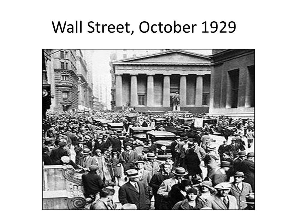 Wall Street, October 1929